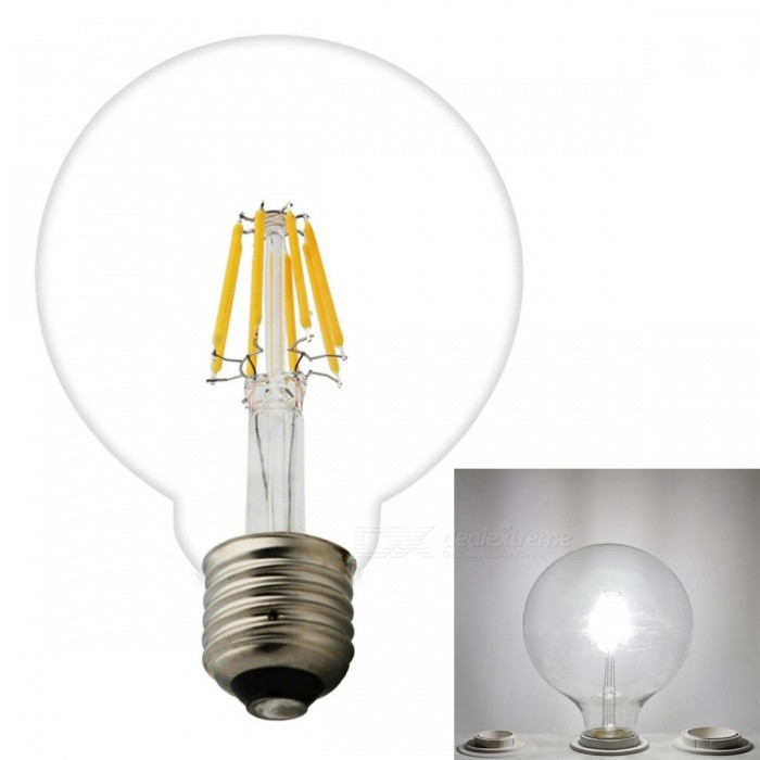 JRLED E27 6W 600lm 6-COB LED Cool White Retro Bulb (AC220V )