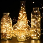 USB Powered 10M 100-LED Copper Wire String Light, Indoor Outdoor Decoration Fairy Lamp Warm White Light