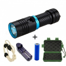 ZHAOYAO T6 LED Professional Underwater Waterproof 100m 18650/26650 Powered Diving Flashlight