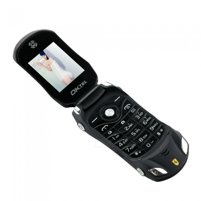 Buy F15 Flip Cellphone 1.8Inch 800mAh MP3 Player FM Radio Recorder Dual Sim Car Model Phone - Black with Litecoins with Free Shipping on Gipsybee.com