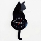 Creative-Cute-Wagging-Tail-Cat-Style-Wall-Clock-Household-Decoration-Black