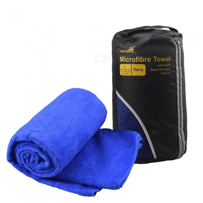 AceCamp Microfibre Towel Terry L Shower Bath Facecloth Car Cloth Wash Soft Pure Cotton Fluffy Quik-Drying