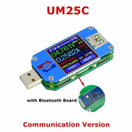 RD UM25C For APP USB 2.0 Type-C LCD Voltmeter Ammeter Voltage Current Meter Battery Charge Measure Cable Resistance Tester