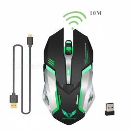 ZERODATE 2.4GHz Wireless Mouse Rechargeable Gaming Optical Mouse 2400DPI Mice for PC Laptop Computer
