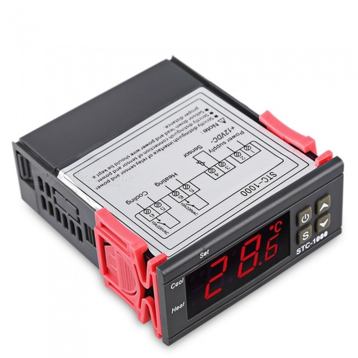 ESAMACT LED Digital Temperature Controller STC-1000   Thermoregulator Thermostat With Heater And Cooler