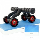 ZHAOYAO-Healthy-Four-Wheel-Abdominal-Wheel-Roller-Hand-Grip-w-Knee-Pad-AB-Fitness-Equipment-for-Home-Use