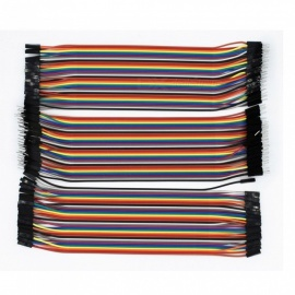 ESAMACT 120PCS 10cm Male to Male + Male to Female + Female to Female Jumper Wire Dupont Cables for Arduino