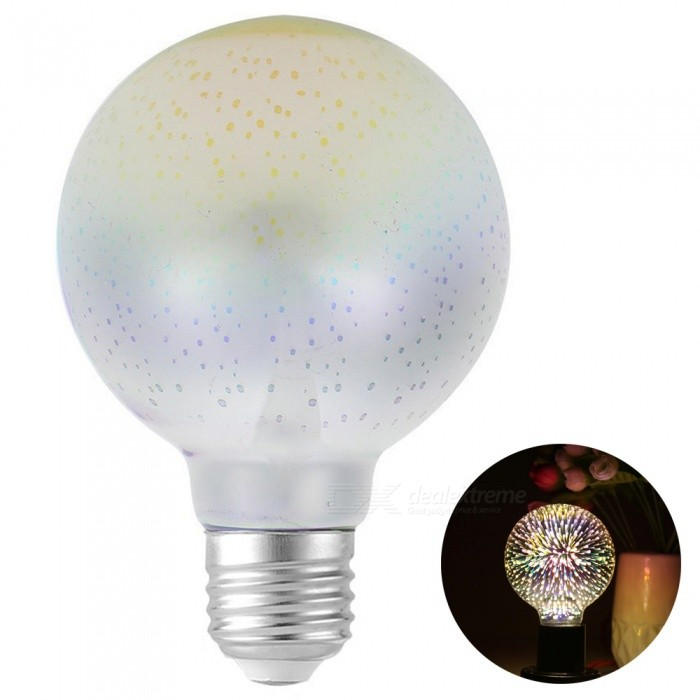 YouOKLight E26 E27 Novelty 3D LED Fireworks Light Bulb Vintage Atmosphere Decorative Christmas Holiday Light,  AC 85-265V