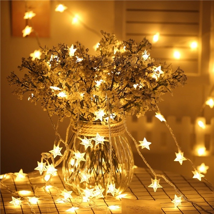 10m 100-LED 6W Star Shaped Christmas Tree Decorative String Lights Warm White Light for Holiday Wedding Party