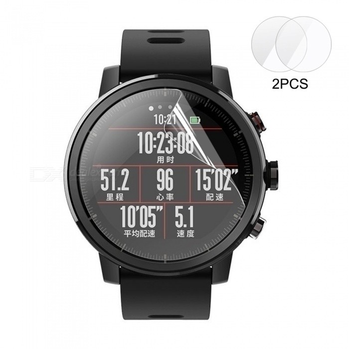2PCS Hat-Prince HD Clear PET Screen Protector for HUAMI AMAZFIT Smart Watch 2 / 2S