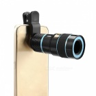 LIEQI-8X-Zoom-Clip-On-Telescope-Lens-w-Holder-for-IPHONE-Samsung-2b-More-Black