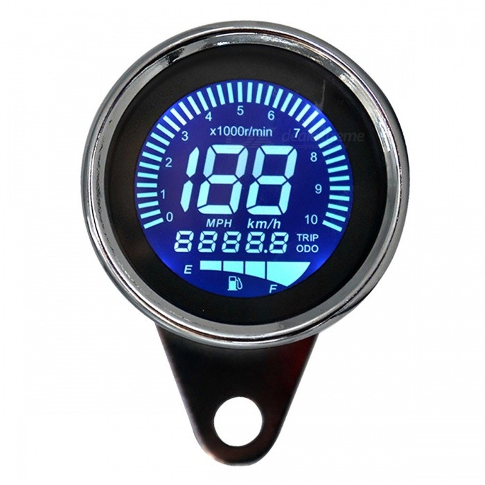 B3180 12V Motorcycle Modification Multi-function LCD Instrument with  Tachometer + Oil + Speedometer + Mileage