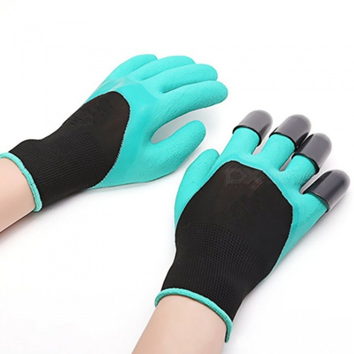 Creative Horticultural Flower Hands Protective Gloves with Claws - Green + Black