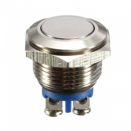 ESAMACT AC 250V 3A NO 16mm Metal Momentary Round Push Button Switch NO Normally Open