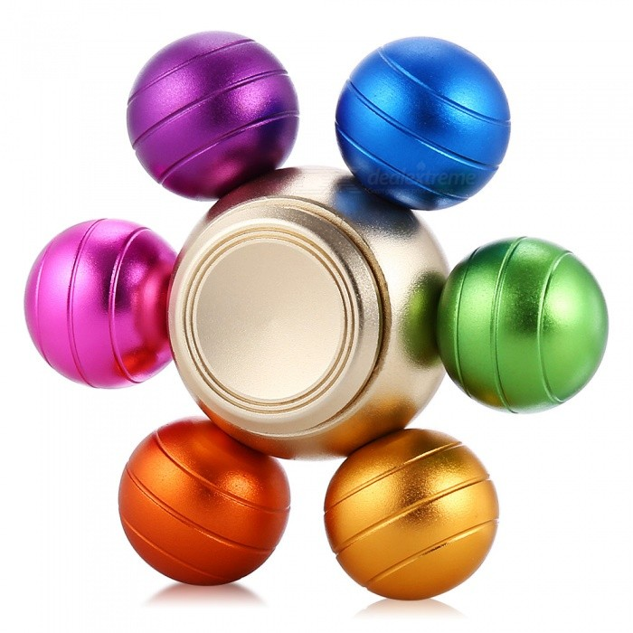 Buy Aluminum Alloy Six Smalls Balls Fingertip Toy Spinner - Colorful with Litecoins with Free Shipping on Gipsybee.com