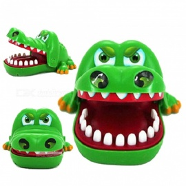 ZHAOYAO-Strange-Cartoon-Crocodile-Style-Tricky-Toy-for-Parenting-Interactive-Game-Playing-Green