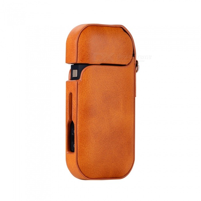 Buy KELIMA IQOS PU Universal Electronic Cigarette Storage Protective Case - Orange with Litecoins with Free Shipping on Gipsybee.com