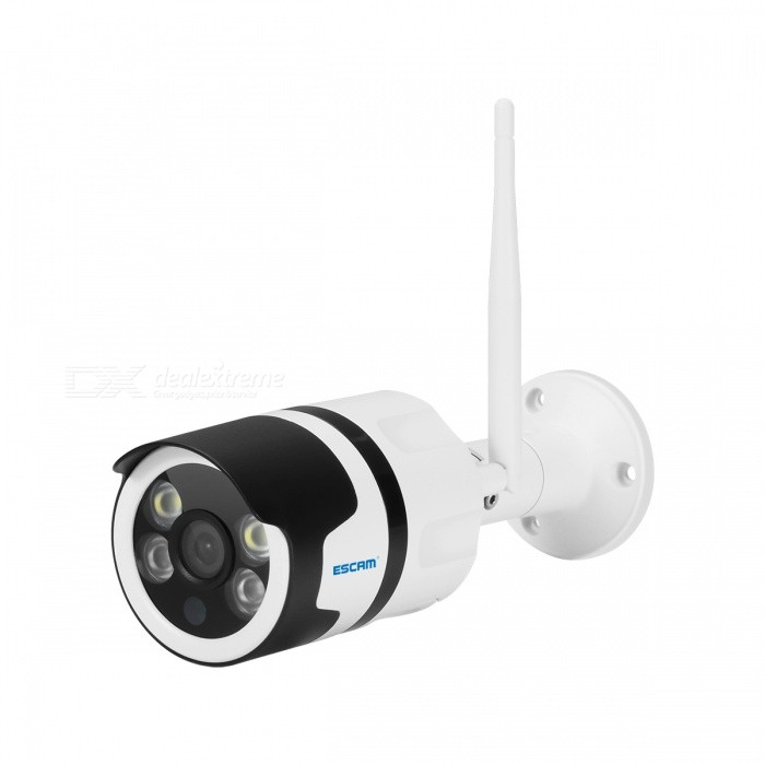 ESCAM QF508 HD 1080P 2.0MP Waterproof Outdoor Full Color Night Vision Security IP Camera, Infrared Bulllet Camera