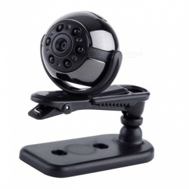 SQ9 HD 1080P Mini Car DVR Outdoor Sport Camera Hidden Night Vision Recorder - Black