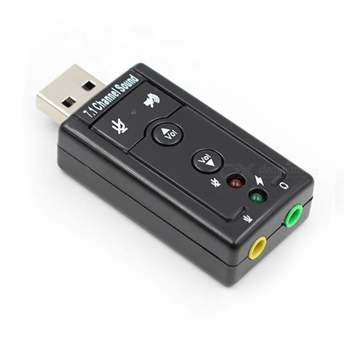 Buy Measy 7.1 External USB Sound Card, USB to Jack 3.5mm Headphone Audio Adapter Mic Sound Card for Mac Win Compter Android Linux with Litecoins with Free Shipping on Gipsybee.com