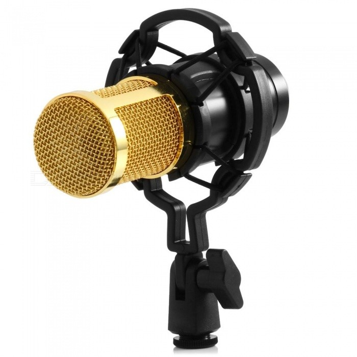 KICCY Professional Studio Condenser Sound Recording Microphone w/ Plastic Shock Mount Kit for Recording