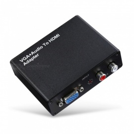 VGA-to-HDMI-1080P-HD-Audio-Converter-Converter-with-RL-2b-EU-Plug-Power-Adapter-Black