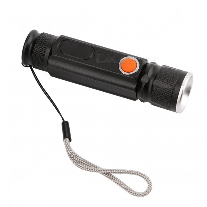 ZHISHUNJIA LED Zooming T6 COB LED Flashlight Waterproof Magnetic Built-in USB Charging Jack for Fishing, Camping, Hunting