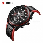 CURREN 8292 Casual Men's Quartz Analog PU Band Wrist Watch - Black