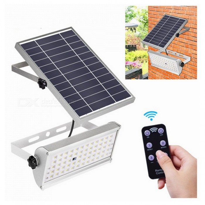 ZHAOYAO-8W-1500lm-Solar-Light-Outdoor-Waterproof-65-LED-Lighting-Lamp-With-Remote-Control-Silver