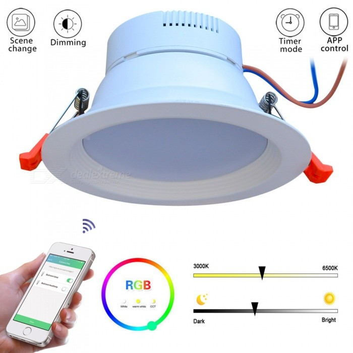 innovative design 9e5e0 eb071 JIAWEN Smart Home RGBW 9W LED Downlight, Supports APP Control, Works with  Zigbee Bridge