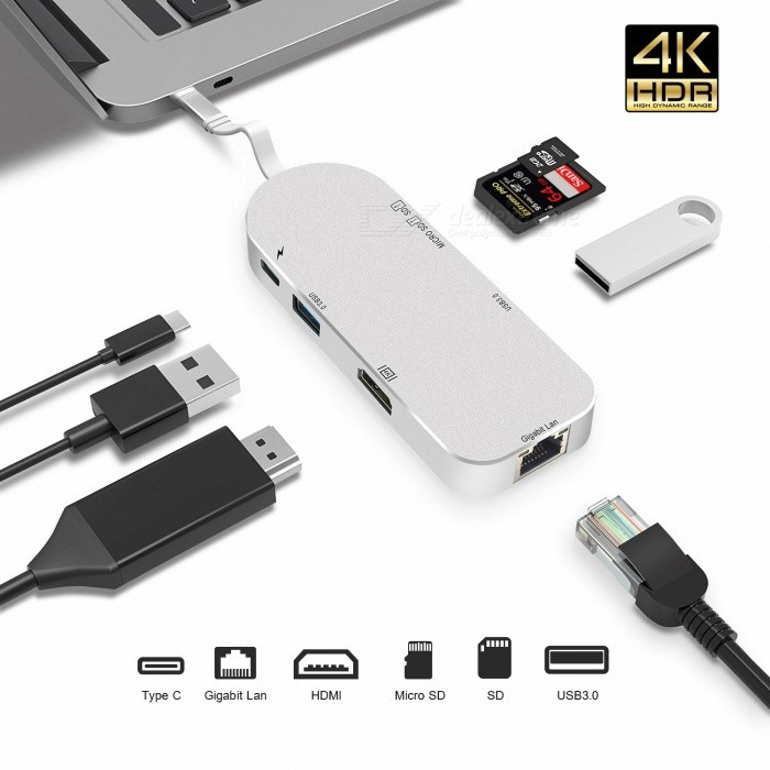 Measy-7-in-1-USB-C-Hub-HDMI-Gigabit-Ethernet-USB-31-Type-C-Hub-with-Micro-SDSD-Card-Reader-2b-Type-C-PD-for-Macbook-Pro-Air
