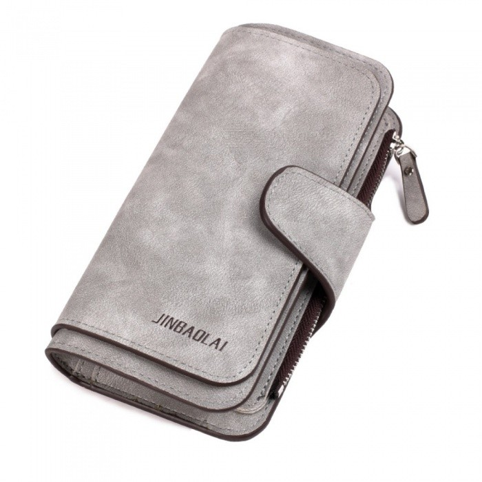 JIN-BAO-LAI-Long-Three-Folding-Frosted-Fabric-Leather-Wallet-with-Card-Holder-for-Women