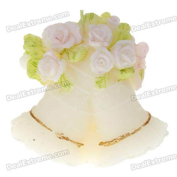 Charming Romantic Wedding Bells Style Candle - Multi Color - Free ...