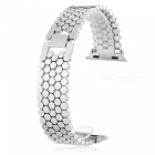 Scale-Pattern-Stainless-Steel-Watch-Strap-for-Apple-iWatch-38mm-Silver