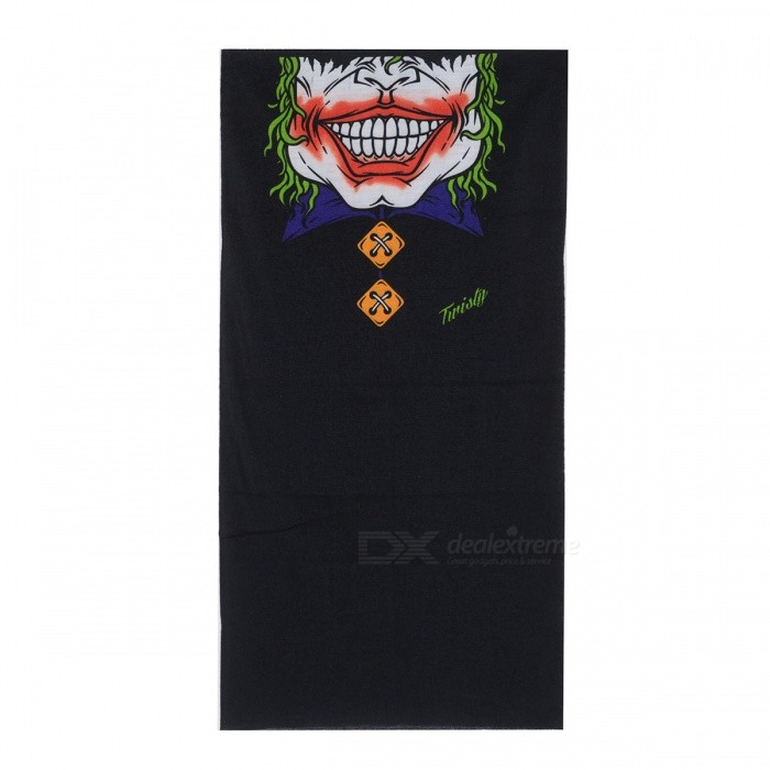 Multi-functional Outdoor Cycling Skull Pattern Seamless Polyester Magic Scarf Face Mask