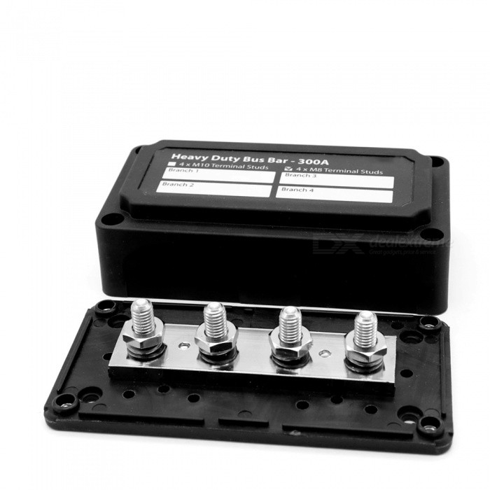 300A-Heavy-Duty-Module-Design-Bus-Bar-Box-with-4-Terminal-Studs-for-Cars-RVs-and-Ships-Refit