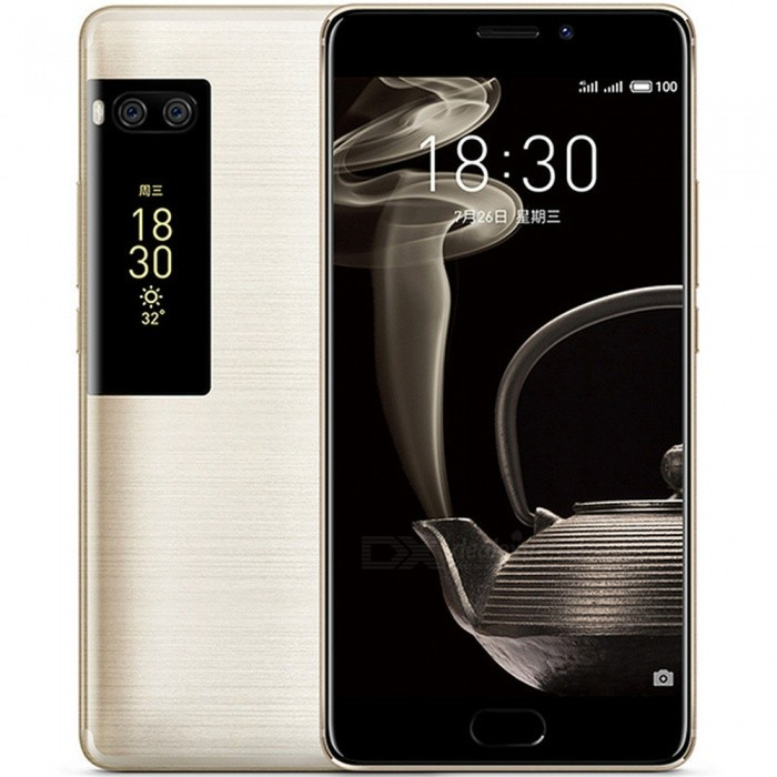 Meizu Pro 7 Plus 5.7quot Phone w/ 6GB RAM 64GB ROM LTE Helio X30 Deca Core - Light Gold
