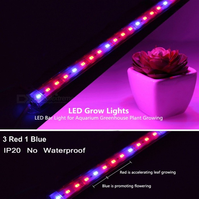 DC12V IP20 Non-Waterproof Hight Brightness 5630 LED Bar Grow Light for Aquarium Greenhouse Plant Growing