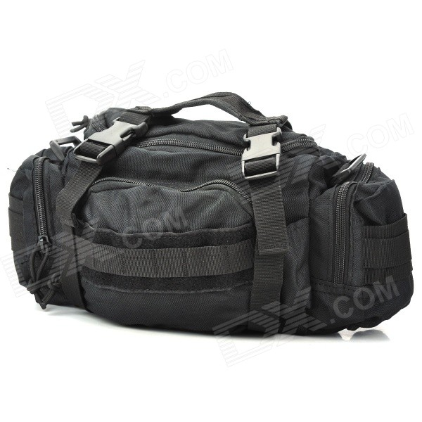 Buy Portable Durable Nylon Waist Bag - Black with Litecoins with Free Shipping on Gipsybee.com