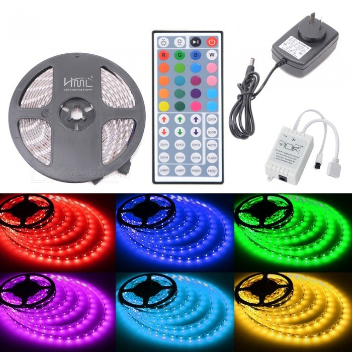 HML IP65 72W 300-5050 RGB LED Light Kit with 44-key IR Remote Controller