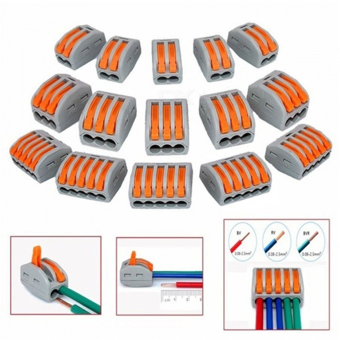 ZHAOYAO  Mayitr Terminal Blocks, Flexible Operating Lever Compact Splicing Connector Wires