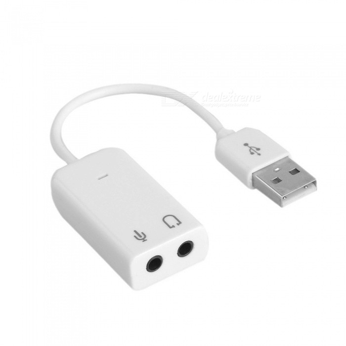 Buy USB 2.0 Virtual 7.1 Channel Audio 3D Sound Card Adapter With Cable Line for Notebook - White with Litecoins with Free Shipping on Gipsybee.com