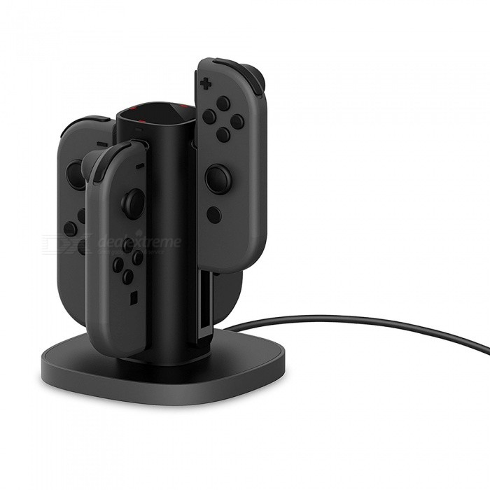 GameWill Fast Charging Station Charging Stand for Nintendo Switch Joy-Con - Black