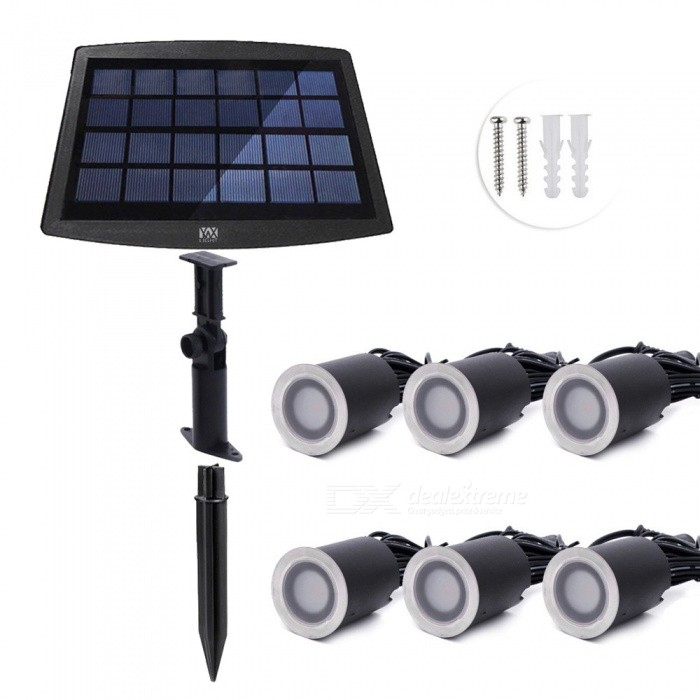 YWXLight-IP67-Waterproof-Warm-White-Solar-Buried-Lamp-Outside-Recessed-Stair-Underground-Light-(6-PCS)