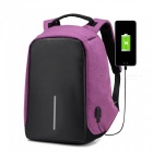 156-Inches-Business-Anti-Theft-Slim-Durable-Laptop-Backpack-with-USB-Charging-Port-Purple