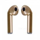 TWS Wireless Dual Bluetooth Headset Twins Stereo Headphone Cordless Sports Earphones - Gold