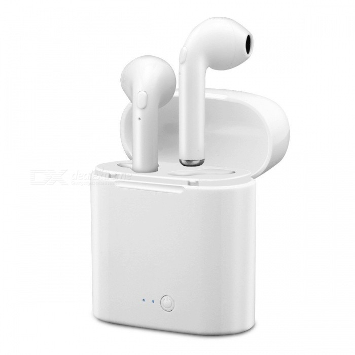Buy Wireless Dual Bluetooth Headset Twins Sport Stereo Headphone with Charging Case with Litecoins with Free Shipping on Gipsybee.com