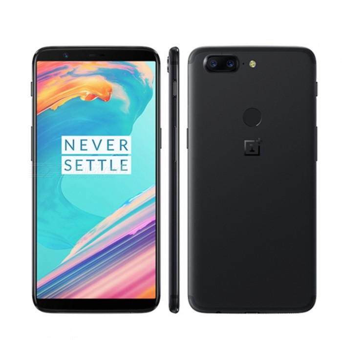 OnePlus 5T Android 7.1.1 4G 6.0quot Phone with 6GB RAM, 64GB ROM, 3300mAh Large Battery - Black
