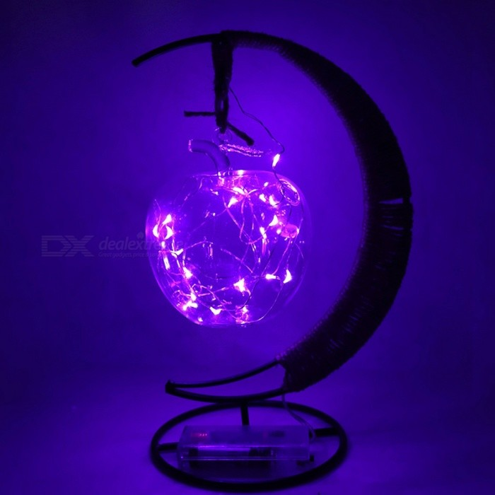 YWXLight LED Retro Style Twine Copper Round Ball Modeling Energy Saving Lamp Indoor Night Light - Purple