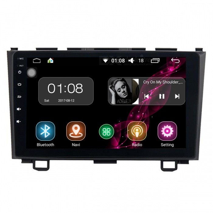 """Funrover Android 8.0 HD 9"""" 2-Din Touch Screen Car Audio System Radio Car Player w/ Stereo GPS Navigationfor Honda CRV 2006-2011"""